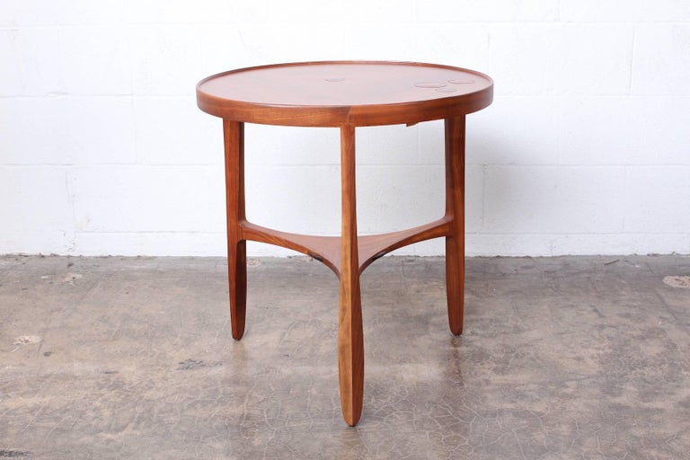 Dunbar Janus Table by Edward Wormley with Natzler Tiles In Good Condition For Sale In Dallas, TX