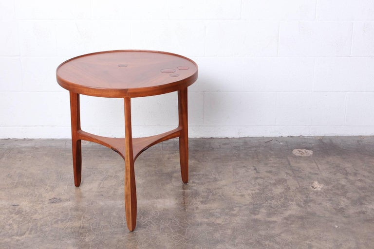 Dunbar Janus Table by Edward Wormley with Natzler Tiles For Sale 1