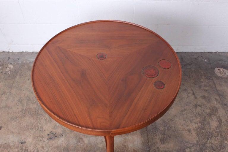 Dunbar Janus Table by Edward Wormley with Natzler Tiles For Sale 2