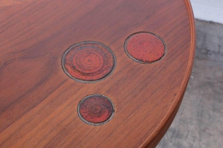 Dunbar Janus Table by Edward Wormley with Natzler Tiles For Sale 3