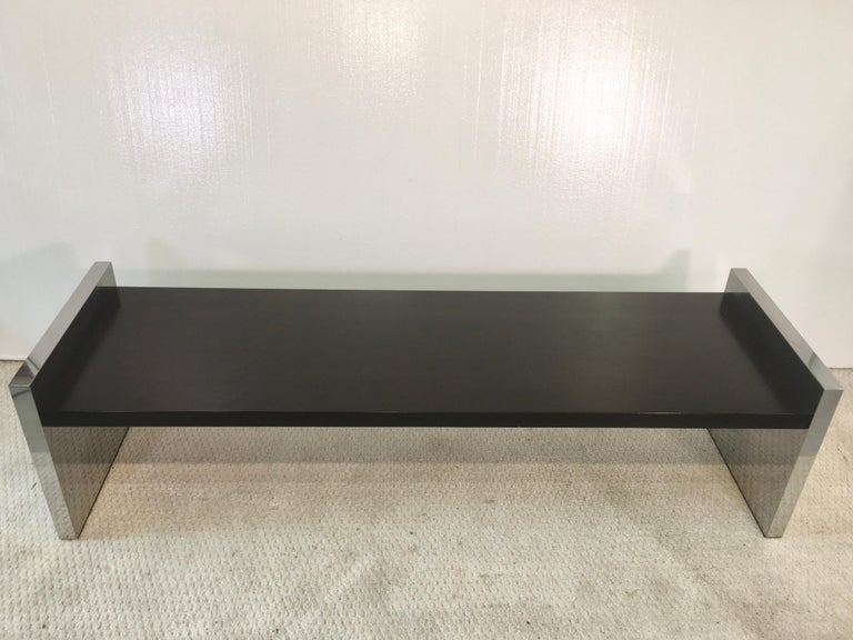Ebonized Dunbar Long Bench by Roger L. Sprunger For Sale