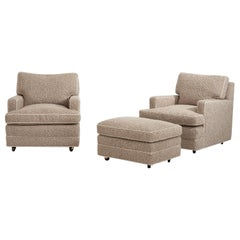 Dunbar Lounge Chairs with Ottoman by Edward Wormley