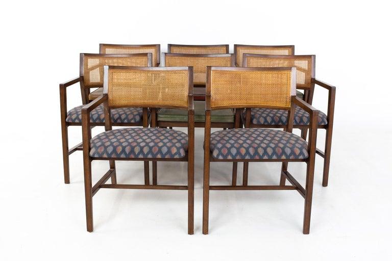 Mid-Century Modern Dunbar Mid Century Dining Chairs, Set of 8