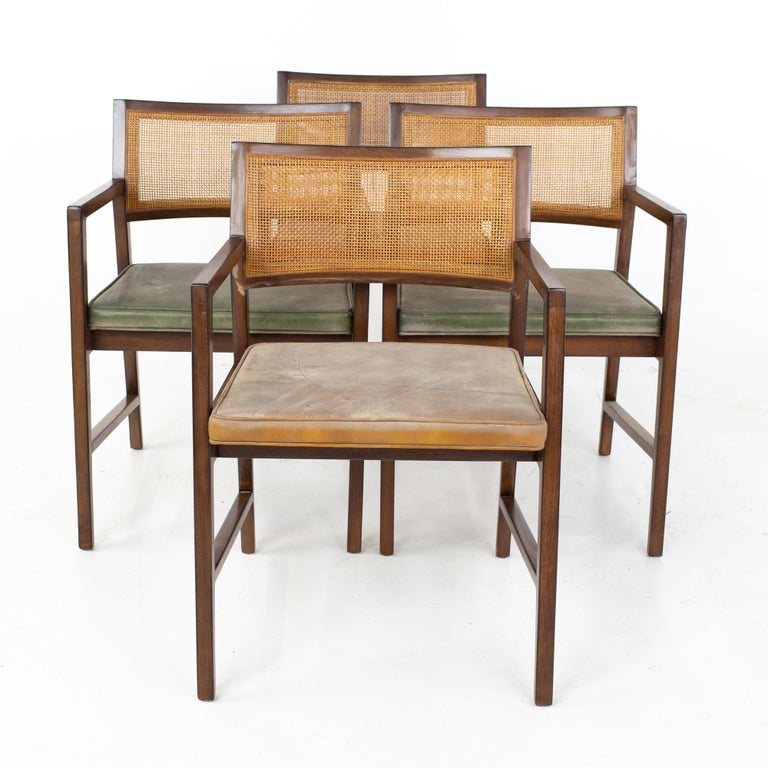 Late 20th Century Dunbar Mid Century Dining Chairs, Set of 8