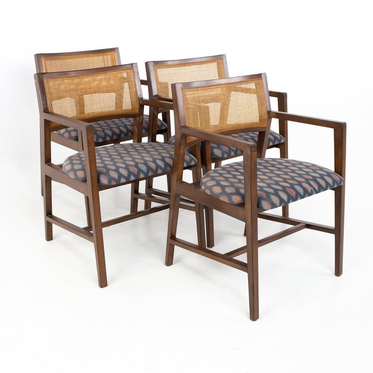 Upholstery Dunbar Mid Century Dining Chairs, Set of 8