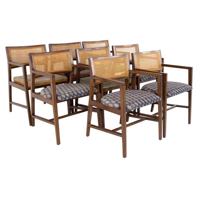 Dunbar Mid Century Dining Chairs, Set of 8