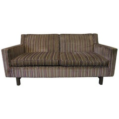 Dunbar Midcentury Loveseat with Larsen Fabric by Edward Wormley