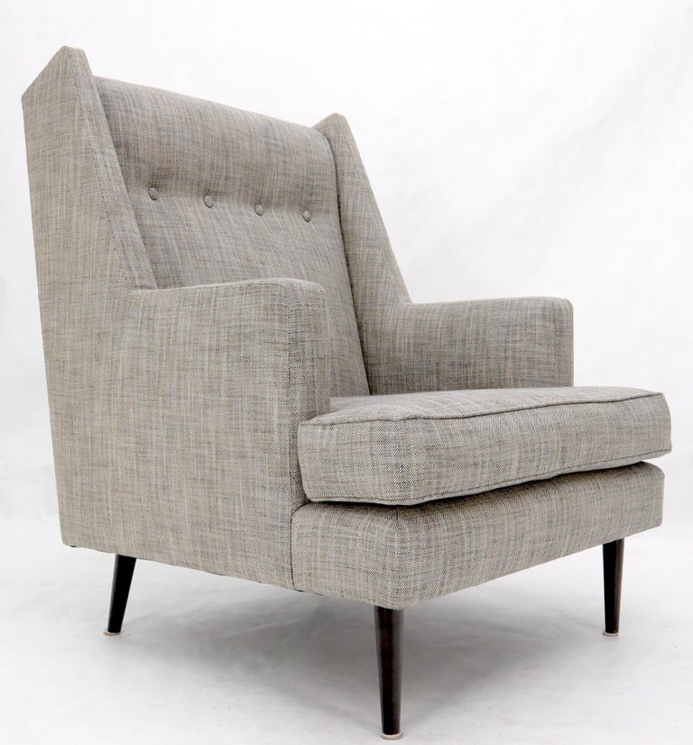 Brass Dunbar Mid-Century Modern Lounge Chair Restored For Sale