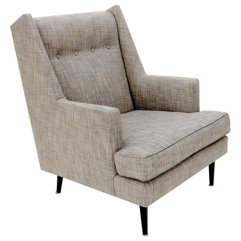 Dunbar Mid-Century Modern Lounge Chair Restored For Sale