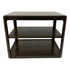 Dunbar Midcentury Rectangular Tri Level End Tables - a Pair