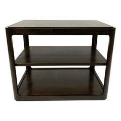Dunbar Midcentury Rectangular Tri Level End Table