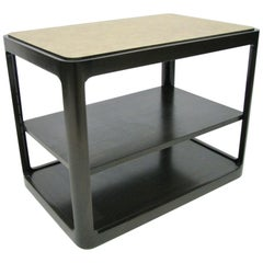 Dunbar Midcentury Rectangular Tri Level End Table