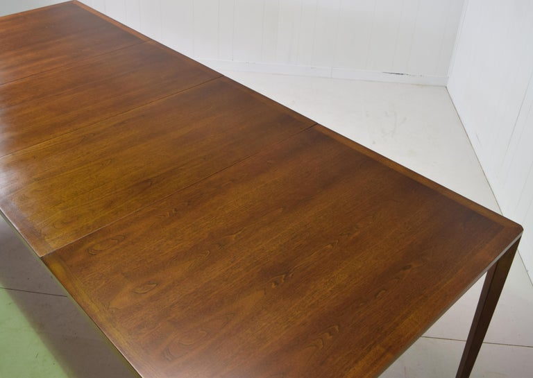 Dunbar Model 456 Walnut Dining Room Extension Table by Edward Wormley For Sale 5