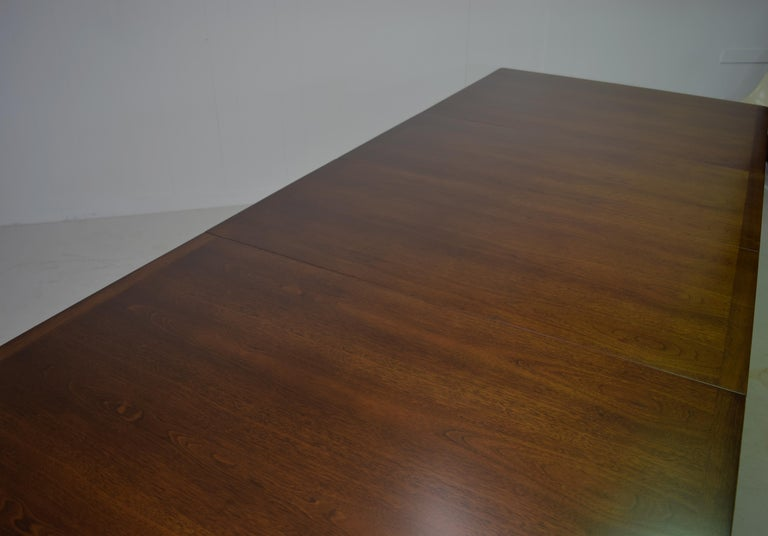 Dunbar Model 456 Walnut Dining Room Extension Table by Edward Wormley For Sale 6
