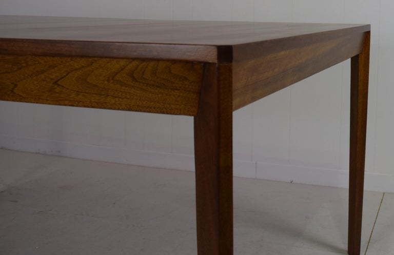 20th Century Dunbar Model 456 Walnut Dining Room Extension Table by Edward Wormley For Sale