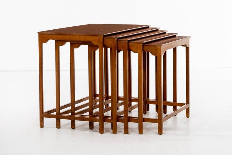 Mid-Century Modern Dunbar Nesting Tables For Sale
