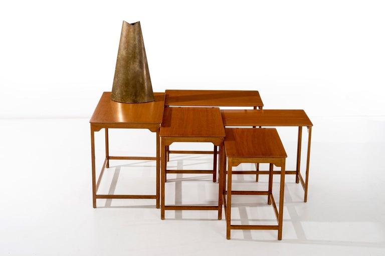 Mahogany Dunbar Nesting Tables For Sale