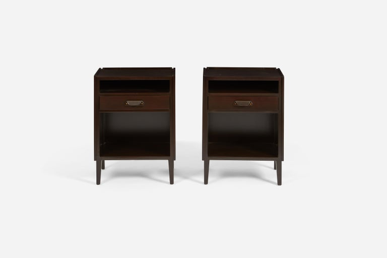 American Dunbar Nightstands by Edward Wormley For Sale