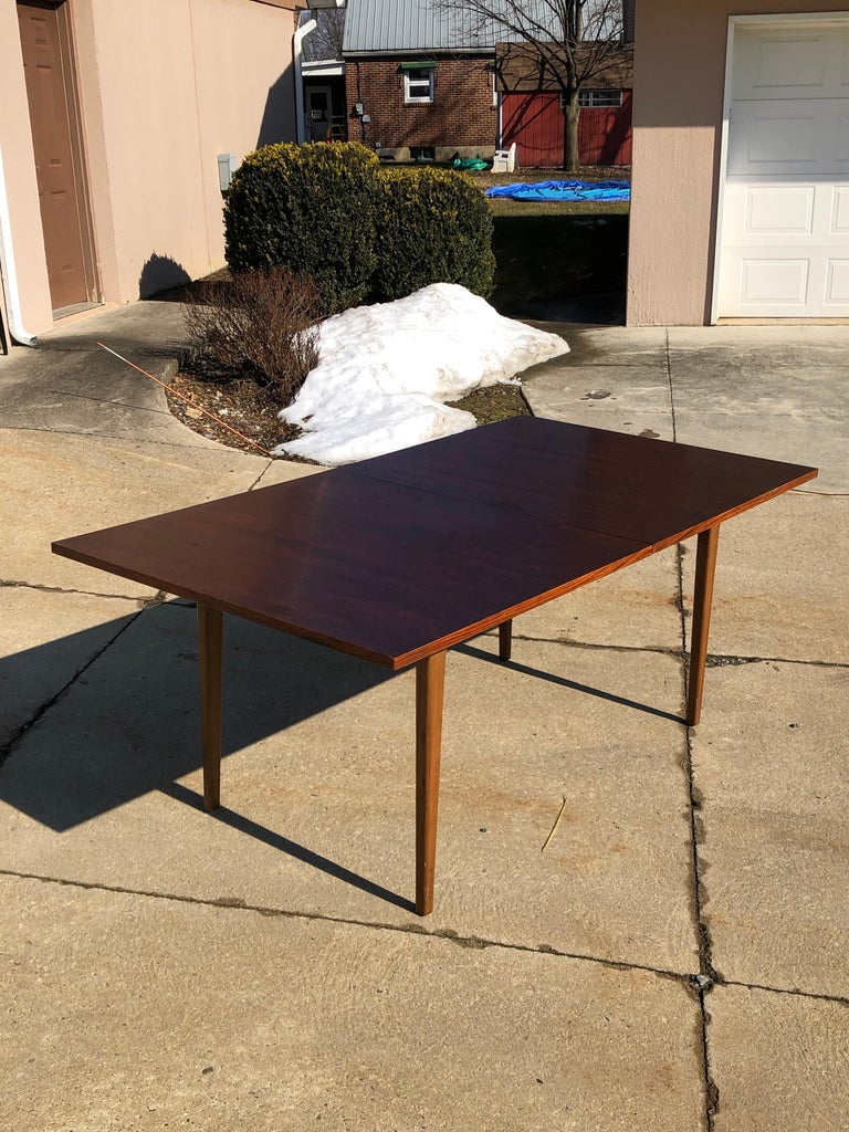 Brushed Dunbar Rosewood Dining Table, Conference Table Expandable, Stunning For Sale