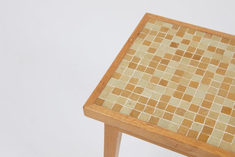 Mid-Century Modern Dunbar Side Table with Murano Glass Tiles by Edward Wormley For Sale