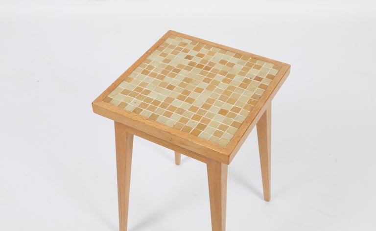 American Dunbar Side Table with Murano Glass Tiles by Edward Wormley For Sale