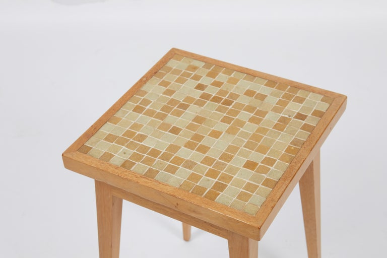 Dunbar Side Table with Murano Glass Tiles by Edward Wormley In Excellent Condition For Sale In Chicago, IL