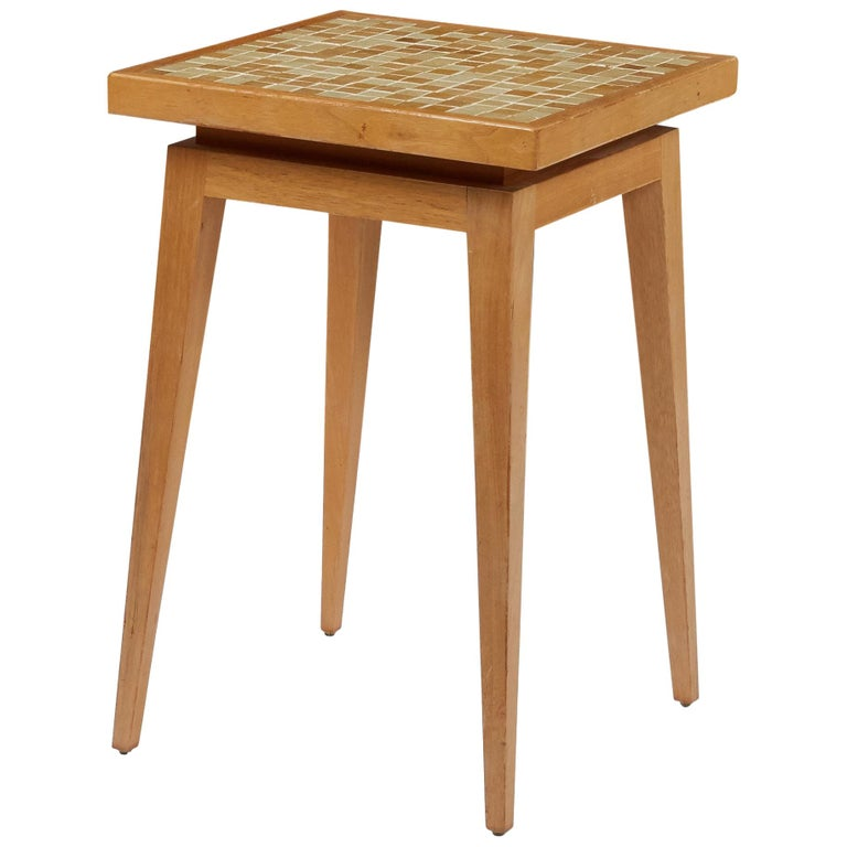Dunbar Side Table with Murano Glass Tiles by Edward Wormley For Sale