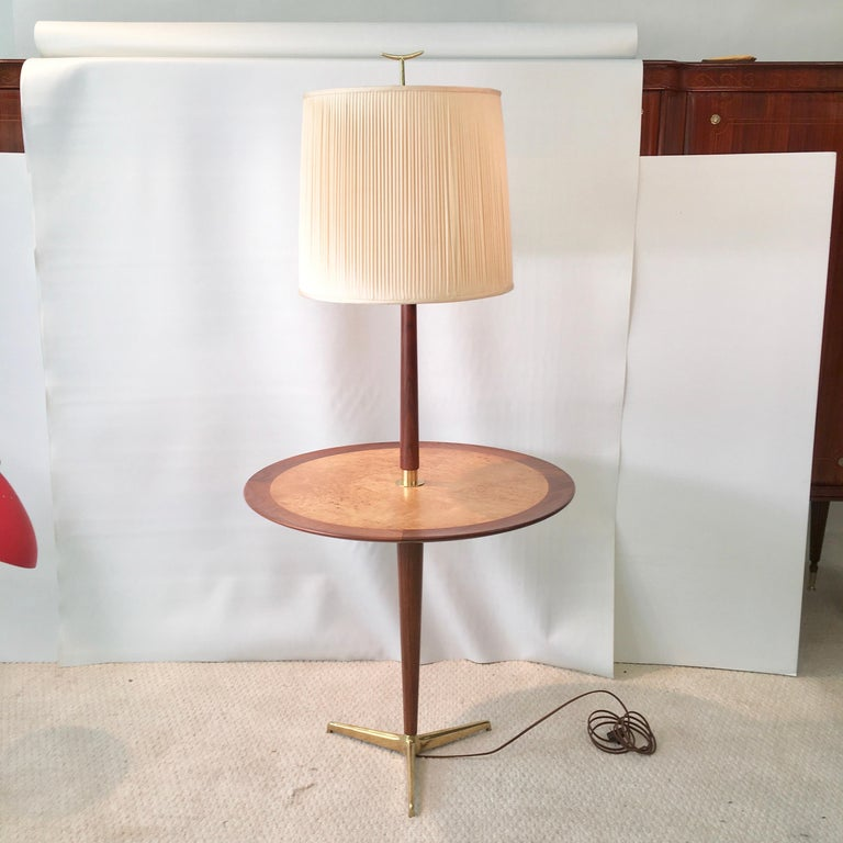 Dunbar Snack Table Floor Lamp, Model 4856, Designed by Edward Wormley For Sale 9