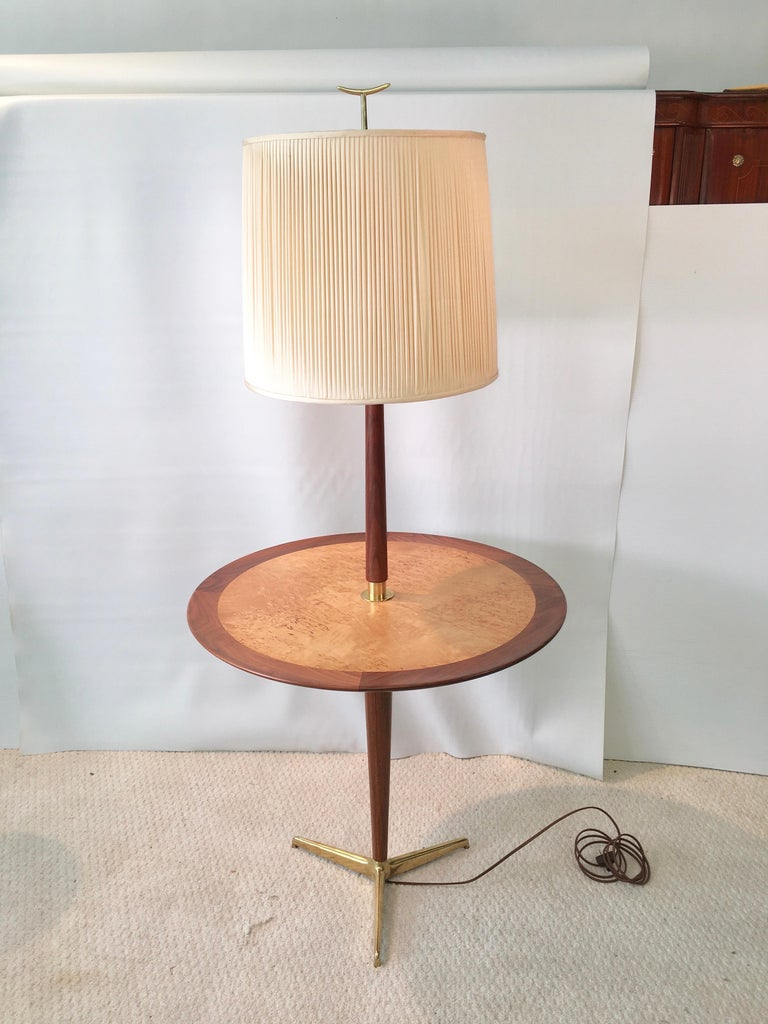 Dunbar Snack Table Floor Lamp, Model 4856, Designed by Edward Wormley For Sale 10