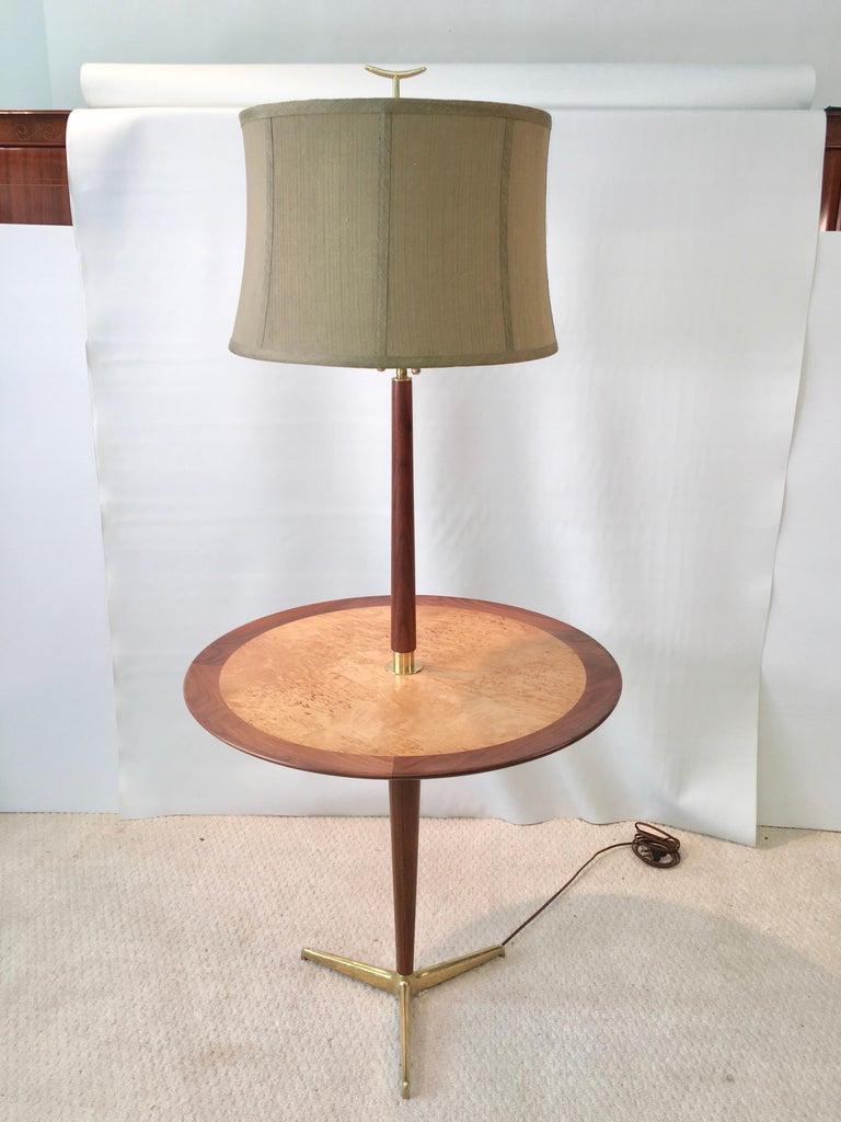 Dunbar Snack Table Floor Lamp Model