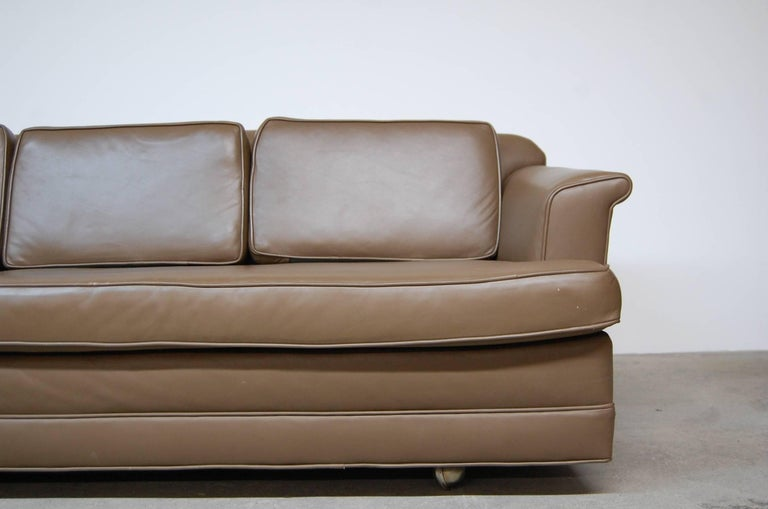 American Dunbar Sofa in Leather For Sale