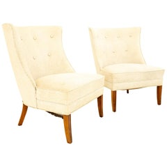 Dunbar Style Mid Century Lounge Chairs, Pair