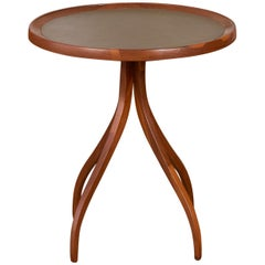 Dunbar Style Side Table with Leather Top