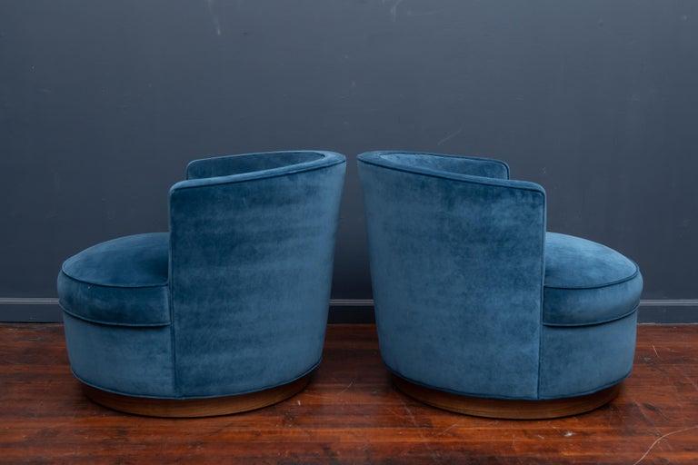 American Dunbar Swivel Club Chairs For Sale