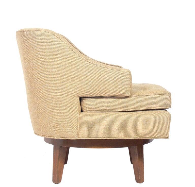 Mid-Century Modern Dunbar Swivel Lounge Chair For Sale