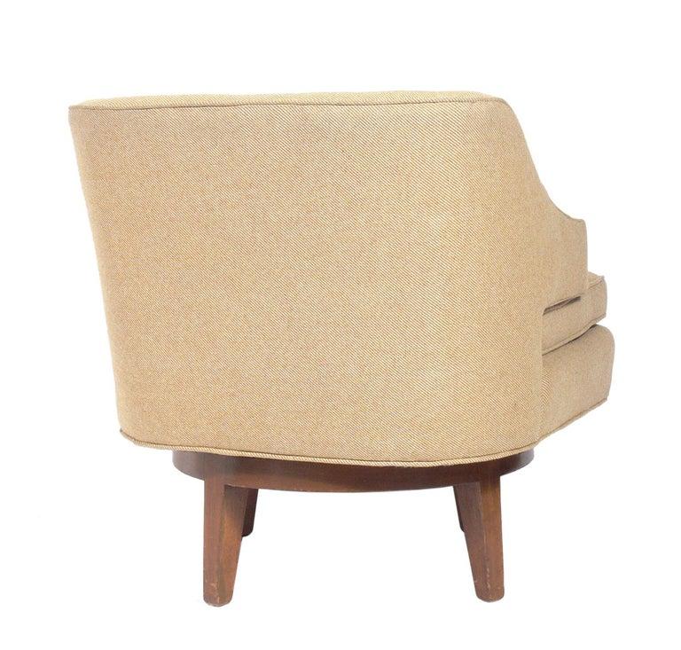 American Dunbar Swivel Lounge Chair For Sale