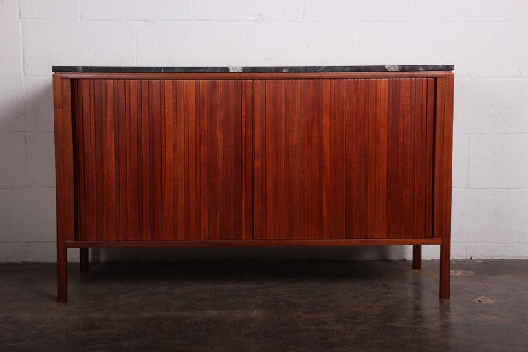 Dunbar Tambour Cabinet by Edward Wormley In Good Condition For Sale In Dallas, TX