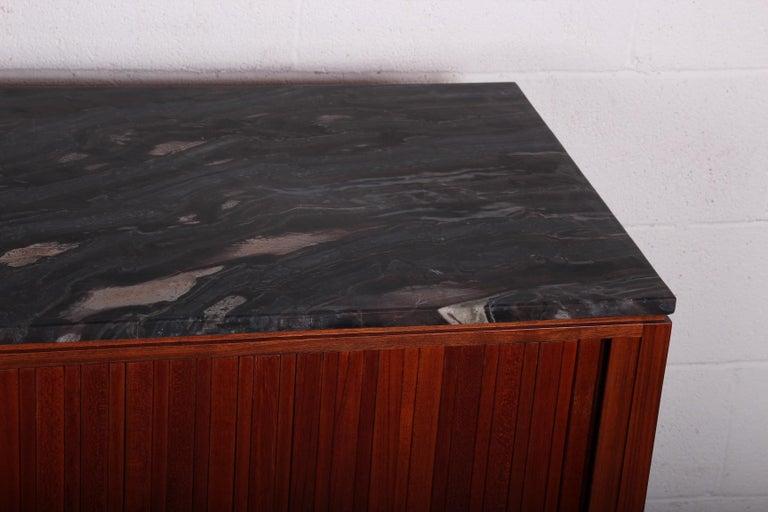 Walnut Dunbar Tambour Cabinet by Edward Wormley For Sale