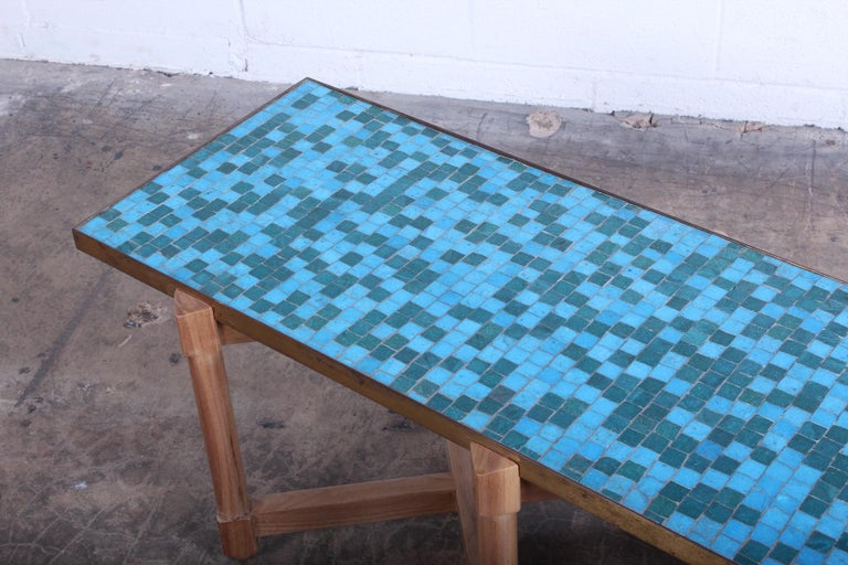 Murano Glass Dunbar Tile Top Table by Edward Wormley For Sale