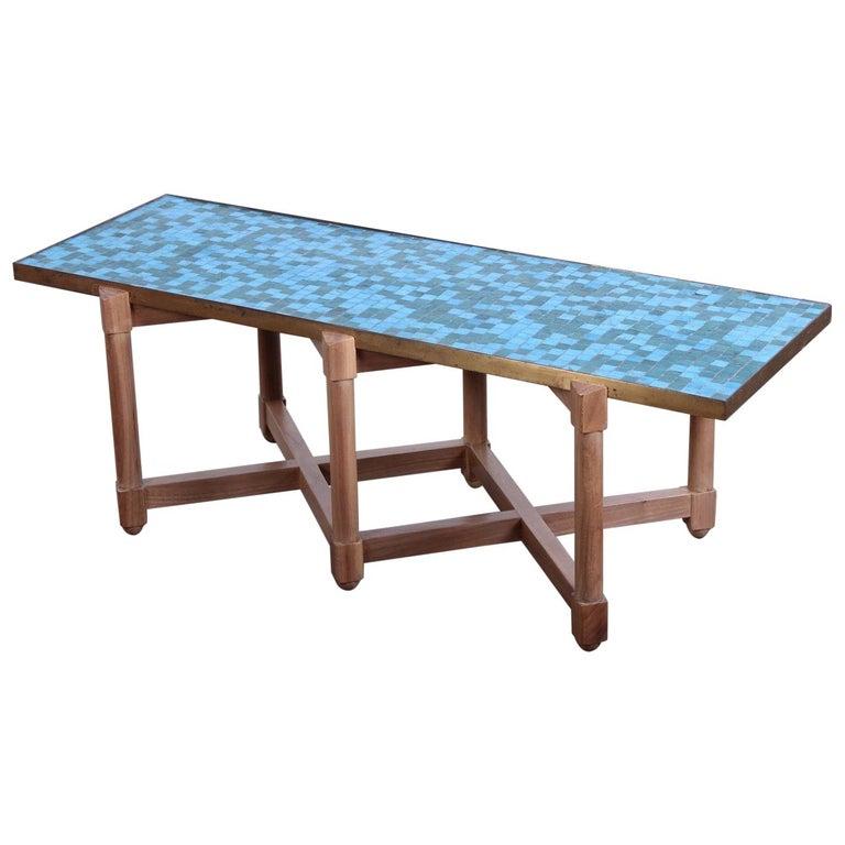 Dunbar Tile Top Table by Edward Wormley For Sale