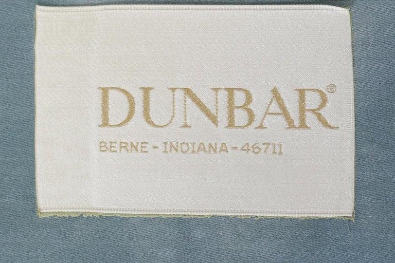 Mid-20th Century Dunbar Velvet Tuxedo Lounge Chairs on Chrome Bases, Edward Wormley, 1960s For Sale