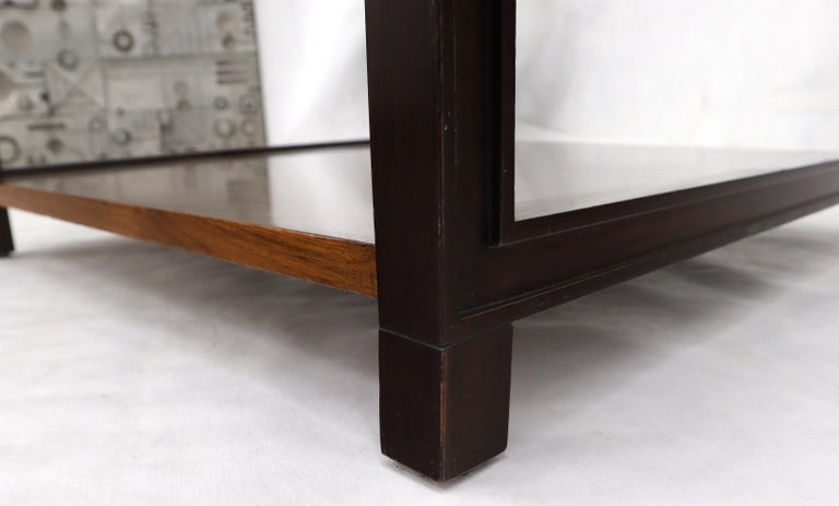 Dunbar Walnut Rectangle One Drawer End Side Table Stand For Sale 5