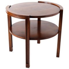 Dunbar Walnut Tiered Side Table by Edward Wormley, circa 1960, Round Two-Tier