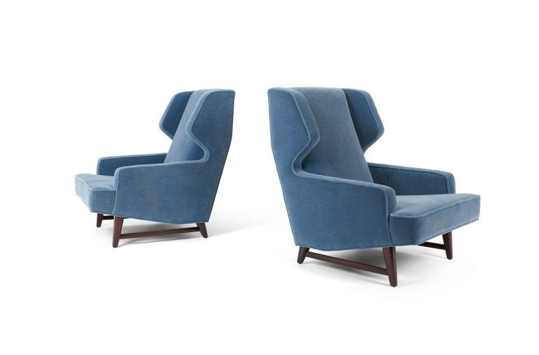 Mid-Century Modern Dunbar Wing Back Lounge Chairs, Edward Wormley