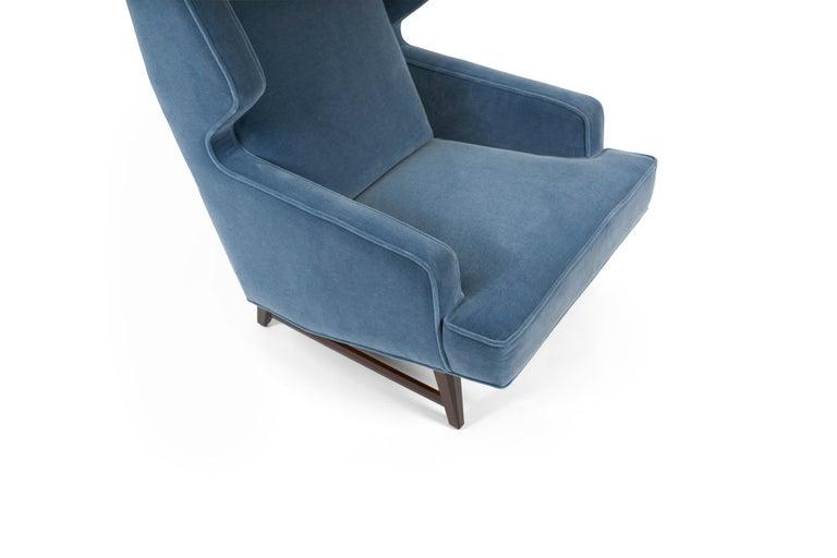 American Dunbar Wing Back Lounge Chairs, Edward Wormley