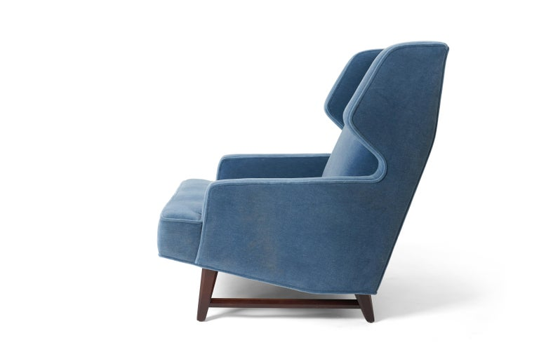 Mid-20th Century Dunbar Wing Back Lounge Chairs, Edward Wormley