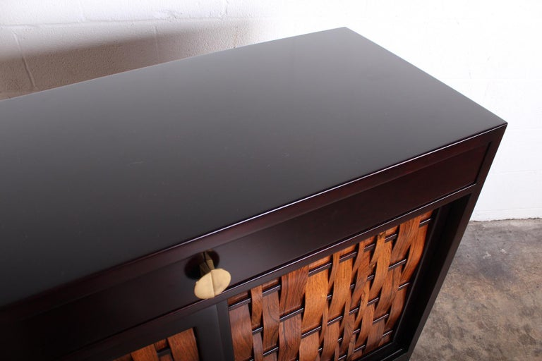 Dunbar Woven Front Cabinet by Edward Wormley 5