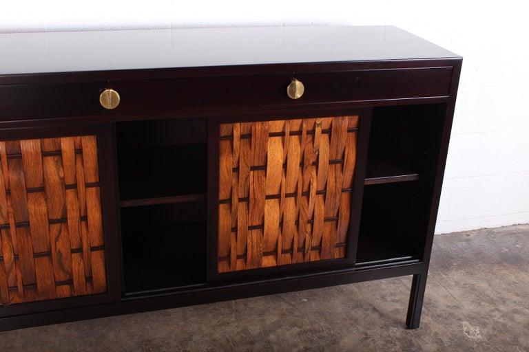 Mid-20th Century Dunbar Woven Front Cabinet by Edward Wormley