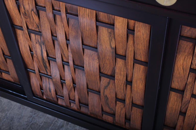 Dunbar Woven Front Cabinet by Edward Wormley 2