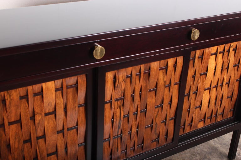 Dunbar Woven Front Cabinet by Edward Wormley 4